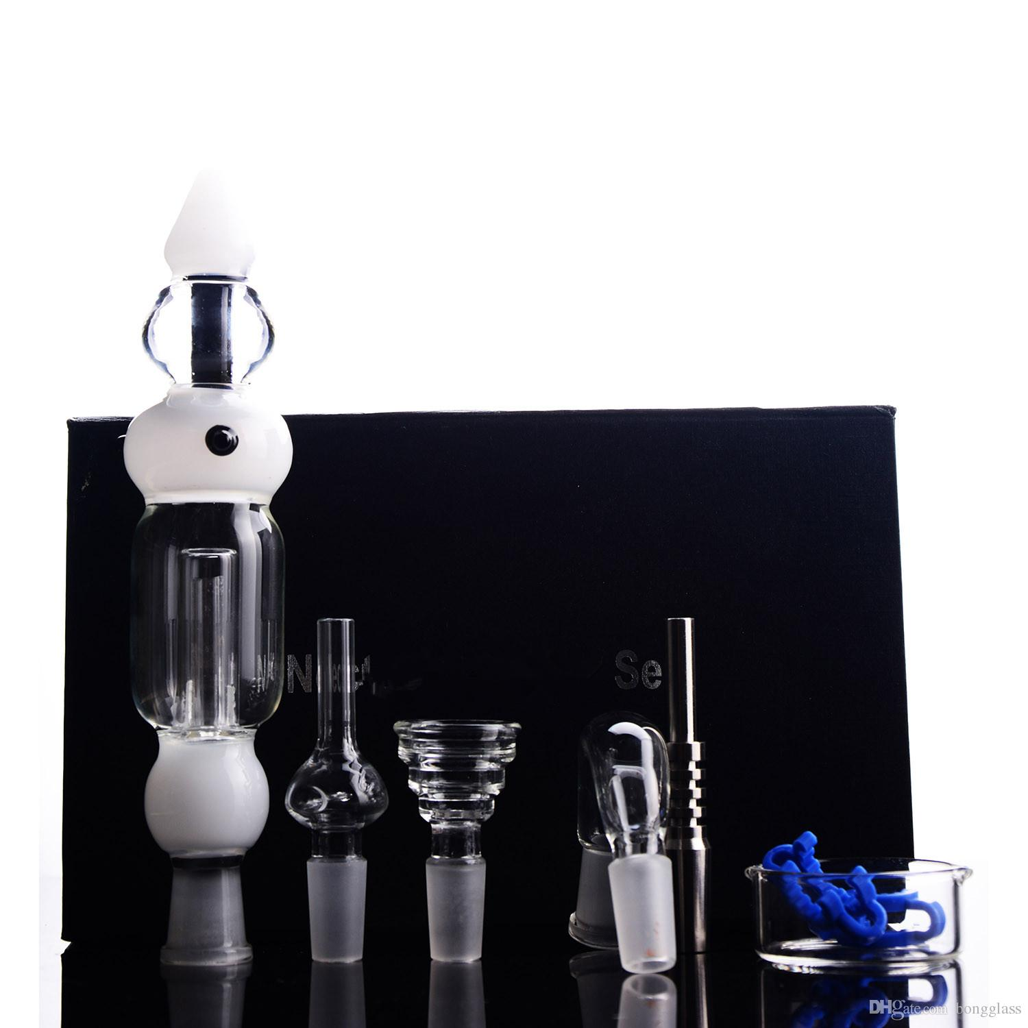 Glass Black Box tool Nectar Bong Water Pipe Titanium Nail Smoking Water Pipe full set products in box Hookahs Shisha With 14mm Joint