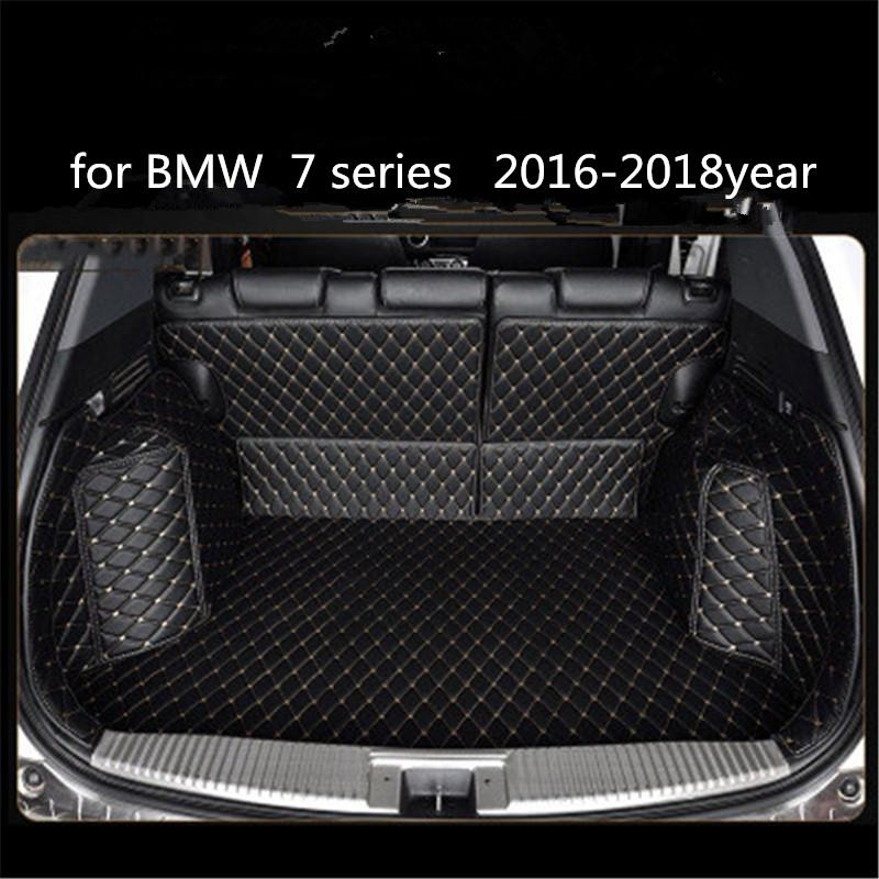 for BMW 7 series 2016-2018year Leather Car Trunk Full Surround Floor Mat Pallet Carpet