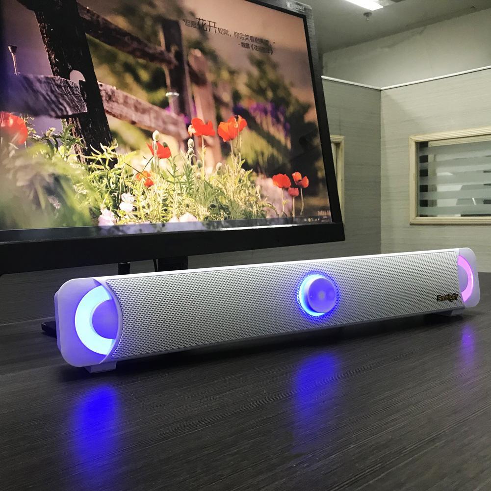 SMALODY STEREO ALTO FIDELIDAD BLUETOOTH TV Bluetooth altavoz de la luz Subwoofer Subwoofer Gaming Altavoz Bar de sonido de la barra de sonido Altavoces de la lámpara de computadora