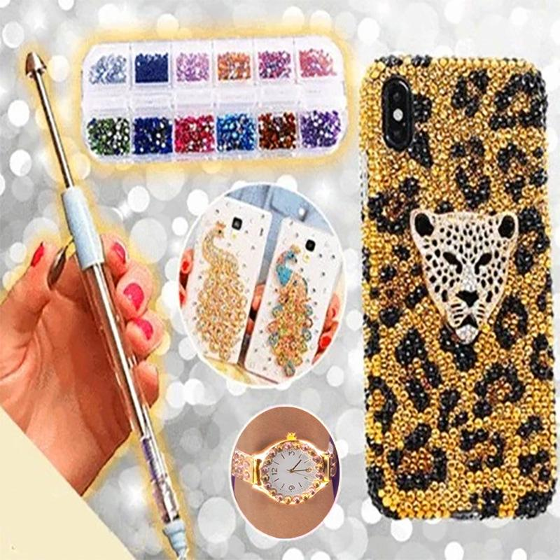 Nail Art Point Drill Pen Rhinestone DIY Painting Manicure Tools Portable for Home Women Hot Sales