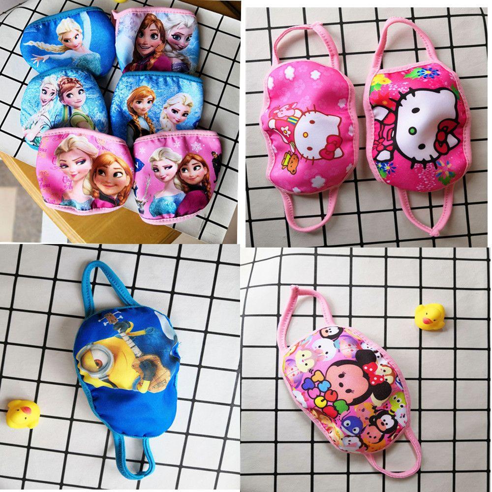 mascherinas niños mascarilla de entrega rápida de algodón de dibujos animados PM2.5 máscaras faciales 3 capas anti máscara para muchacha del muchacho 20pcs