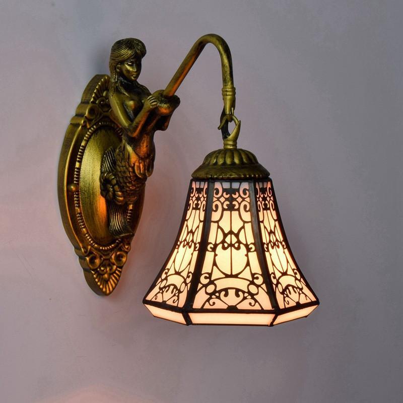 Colorato Tiffany bar lampada da parete di vetro camera da letto corridoio balcone riparo della parete di vetro in stile arabo sala da pranzo illumina TF049