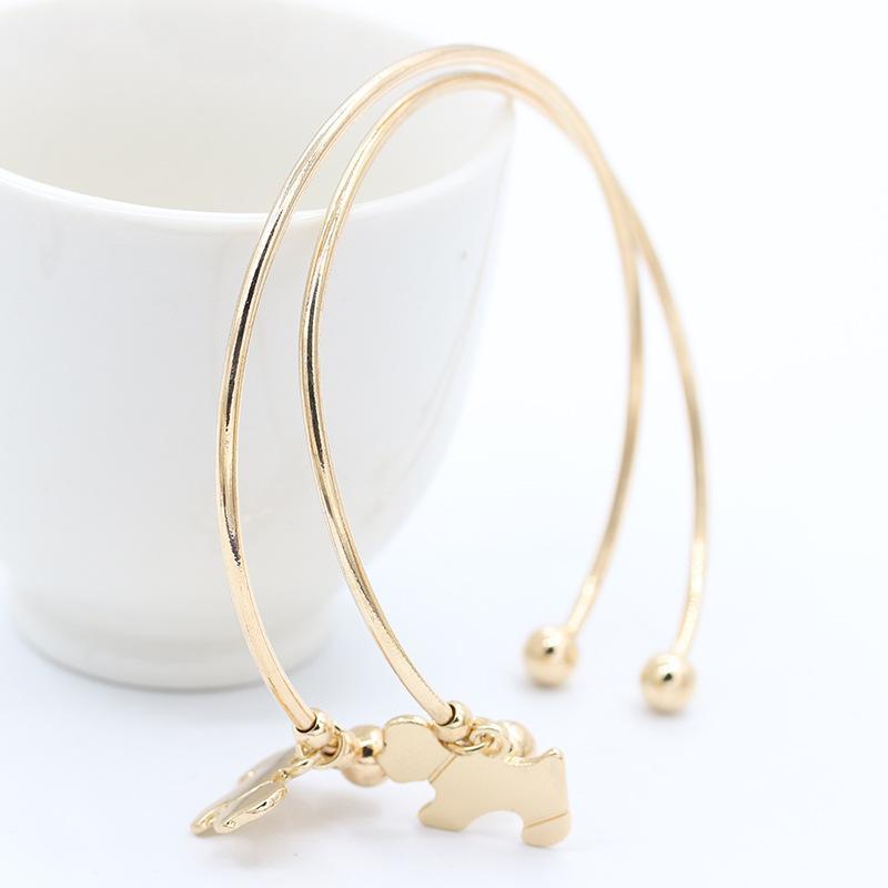 tempérament simple brillant bracelet chiot whoelsale livraison gratuite