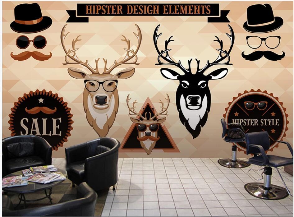 custom photo 3d wallpaper Elk Fashion Shop Nail Salon Manicure home decor living room 3d wall murals wallpaper for walls 3 d