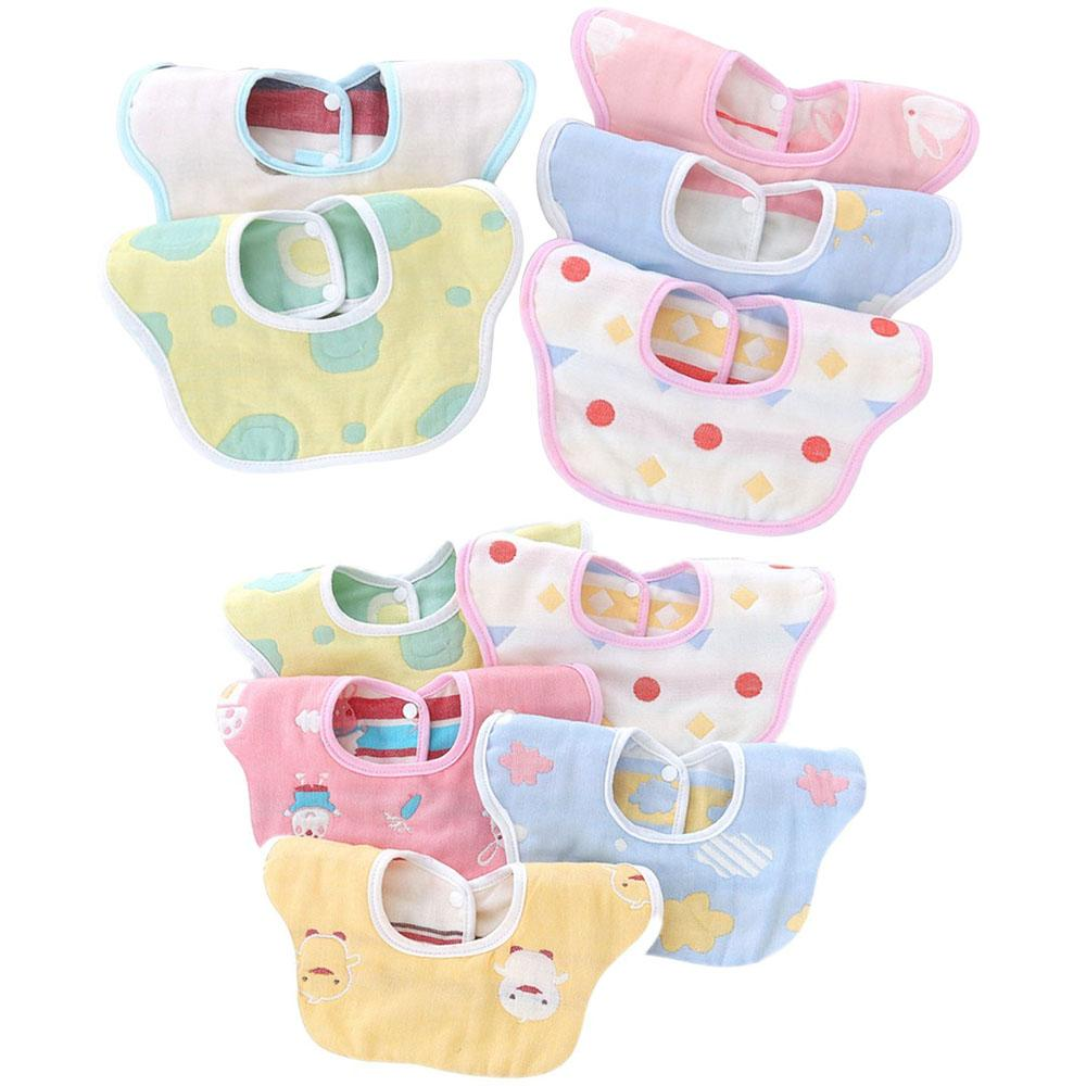 6 Layer Baby Bib Saliva Towel Can 360°Rotate Petal Absorption Bandana Bibs Burp Cloths for Drooling And Teething