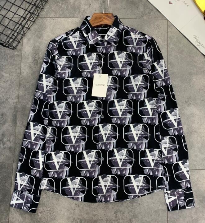 20SS européen de printemps nouveau mode pleine Lettre du corps d'impression de haute qualité T-shirt d'homme français de luxe coton respirant Slim Shirts top