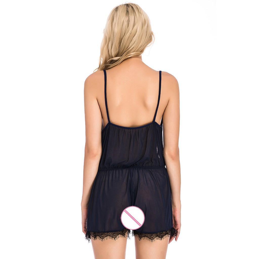 Lace delle donne della nuova biancheria sexy della tuta della tuta pigiama Teddy Sleepwear Sleepwear orsacchiotti Porno Sex costume S-3XL # Y20