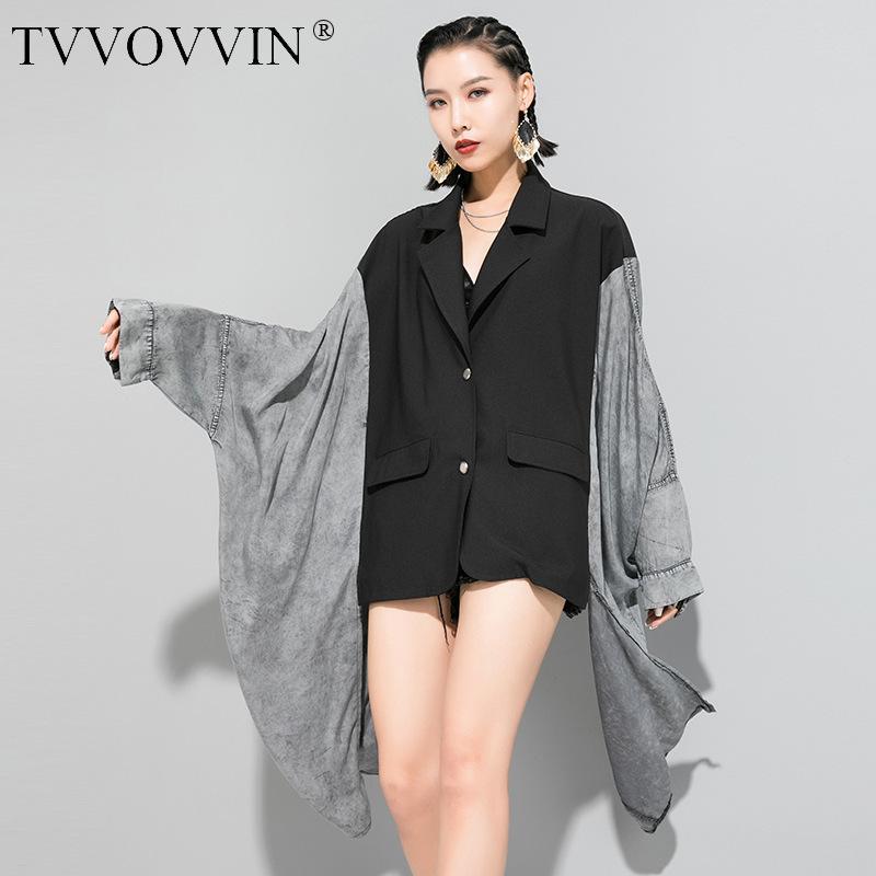 Kore 2020 moda kadın giysileri Düzensiz WINDBREAKER bahar yeni Kişilik yüksek Sokak Gevşek hendek Coat YH73601 patchwork