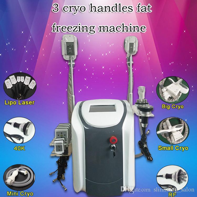 2019 최신! 휴대용 한 Cryolipolysis 지방 냉동 기계 40K 공동 현상 hexapolar RF 냉동 요법 슬리밍 기계