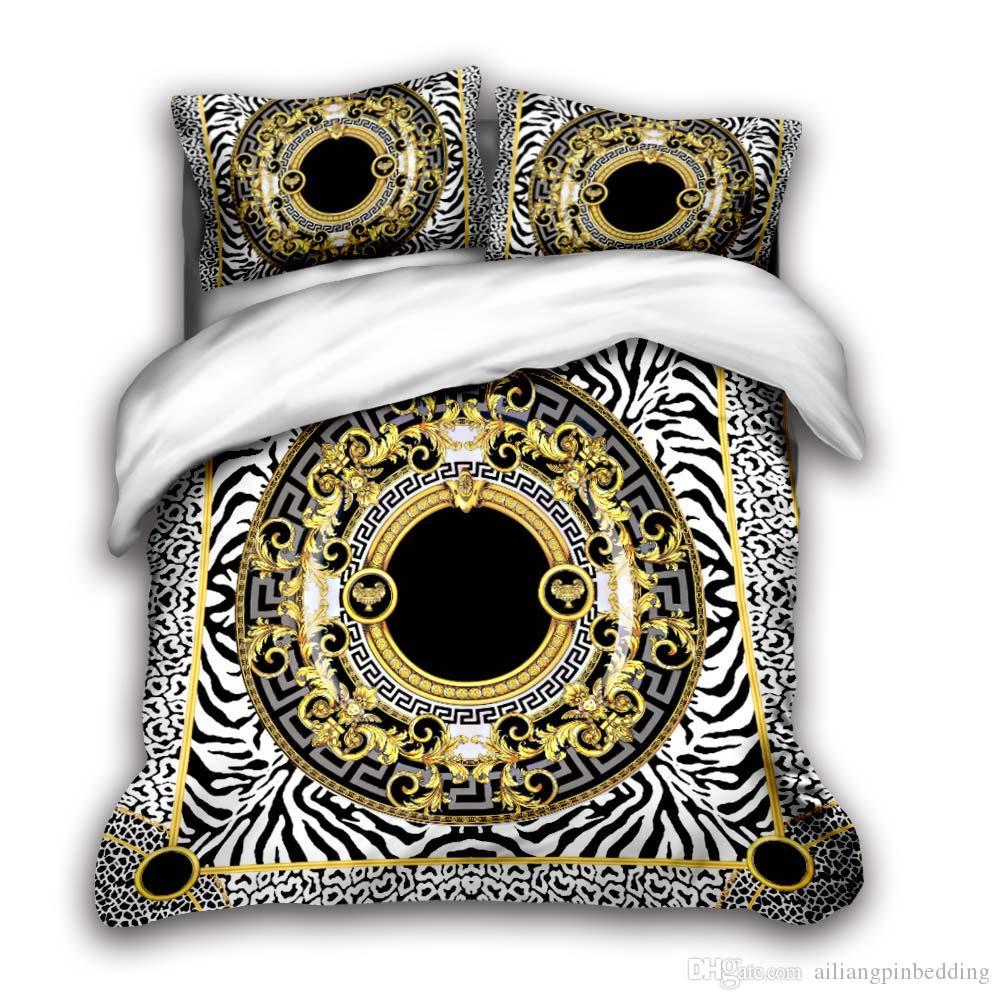 3D designer bedding sets king size luxury Quilt cover pillow case queen size duvet cover designer bed comforters sets vv