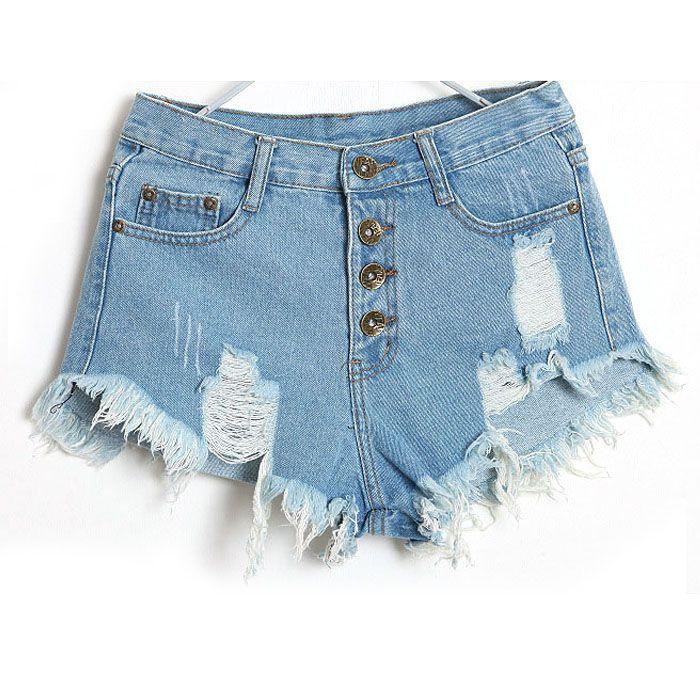 Heiße Damen schließen Hosenfrauensommer beiläufige Hosenfrauensommer 2019 1PC Weinlese-Jeans-hohe Taillen-Kurzschlüsse Y521 kurz