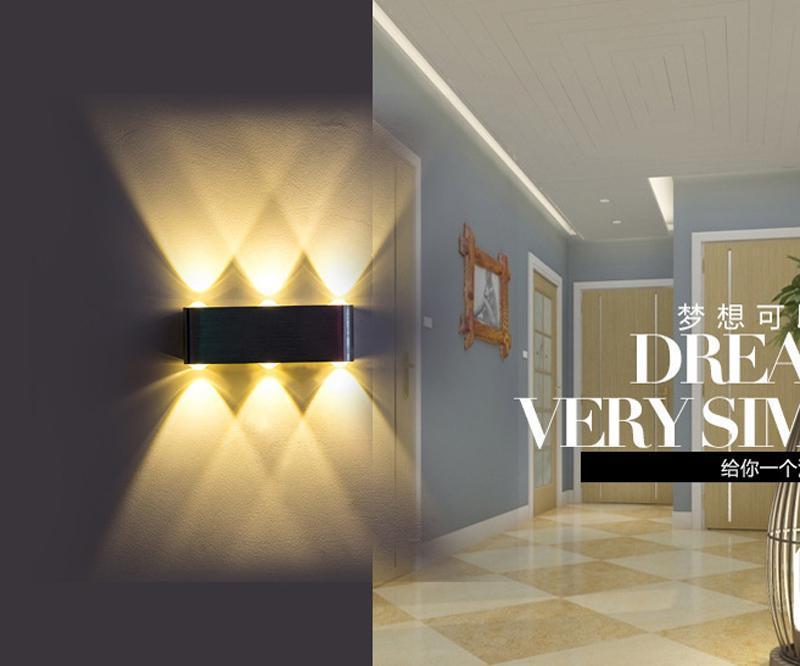 Modern 6w / Alüminyum Led Yukarı Aşağı Duvar Işık ile Saçılma Işık Tasarımı Fikstür Lambalar Açık Dış Cephe Işık 8w # 31