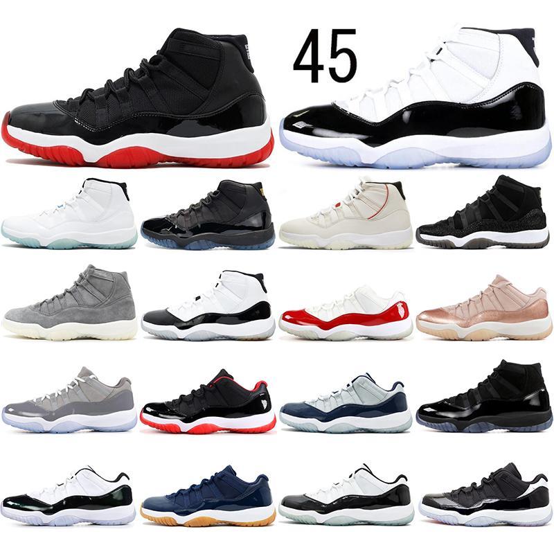 Nike AIR Jordan 11 mit socksAirJordanRetro 11 11s Basketball-Schuhe Concord 45 Platinum Tint Kappe und das Kleid der Männer Frauen Gym Red Trainer Sport-Turnschuh