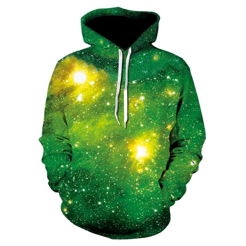 Espace Galaxy Sweats à capuche à capuche Homme / Femmes Hat 3d Sweatshirts Imprimer Hip-Hop coloré Nebula mince automne Sweat Hoodies dropship