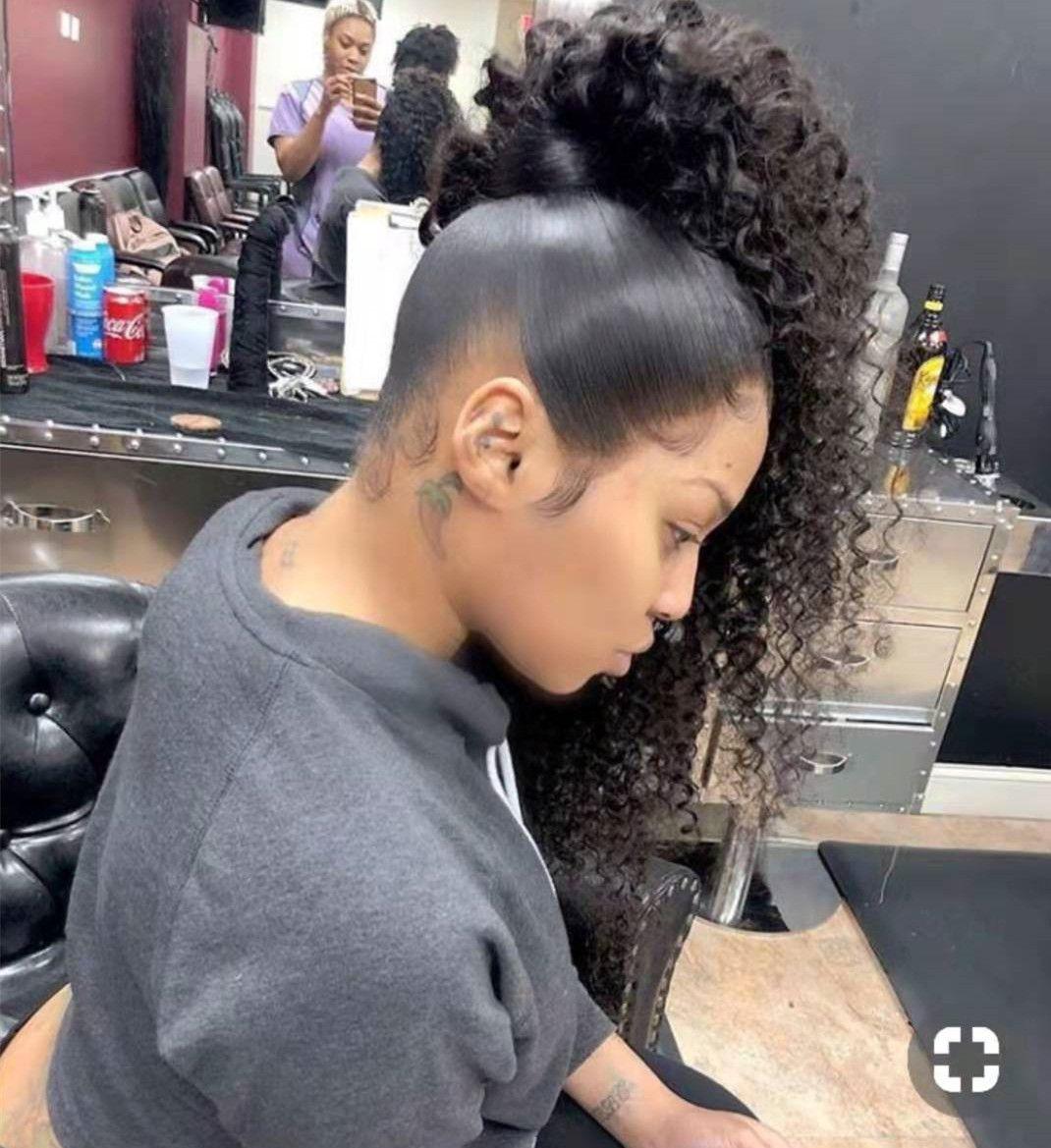 Kinky вьющиеся натуральные человеческие волосы пони хвост 100g-160g обертывания вокруг kinky вьющиеся волосы слойки волос натуральные черные 1b