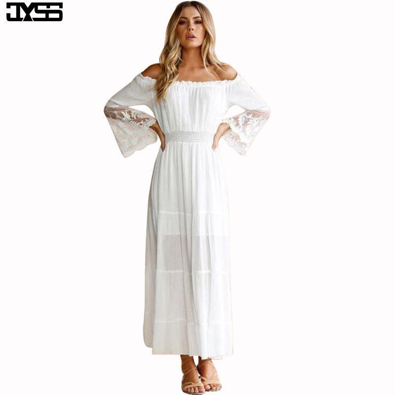 vestido de ombro palavra 2002 designer de outono vestido novo rendas costura peito trompete enrolado mangas