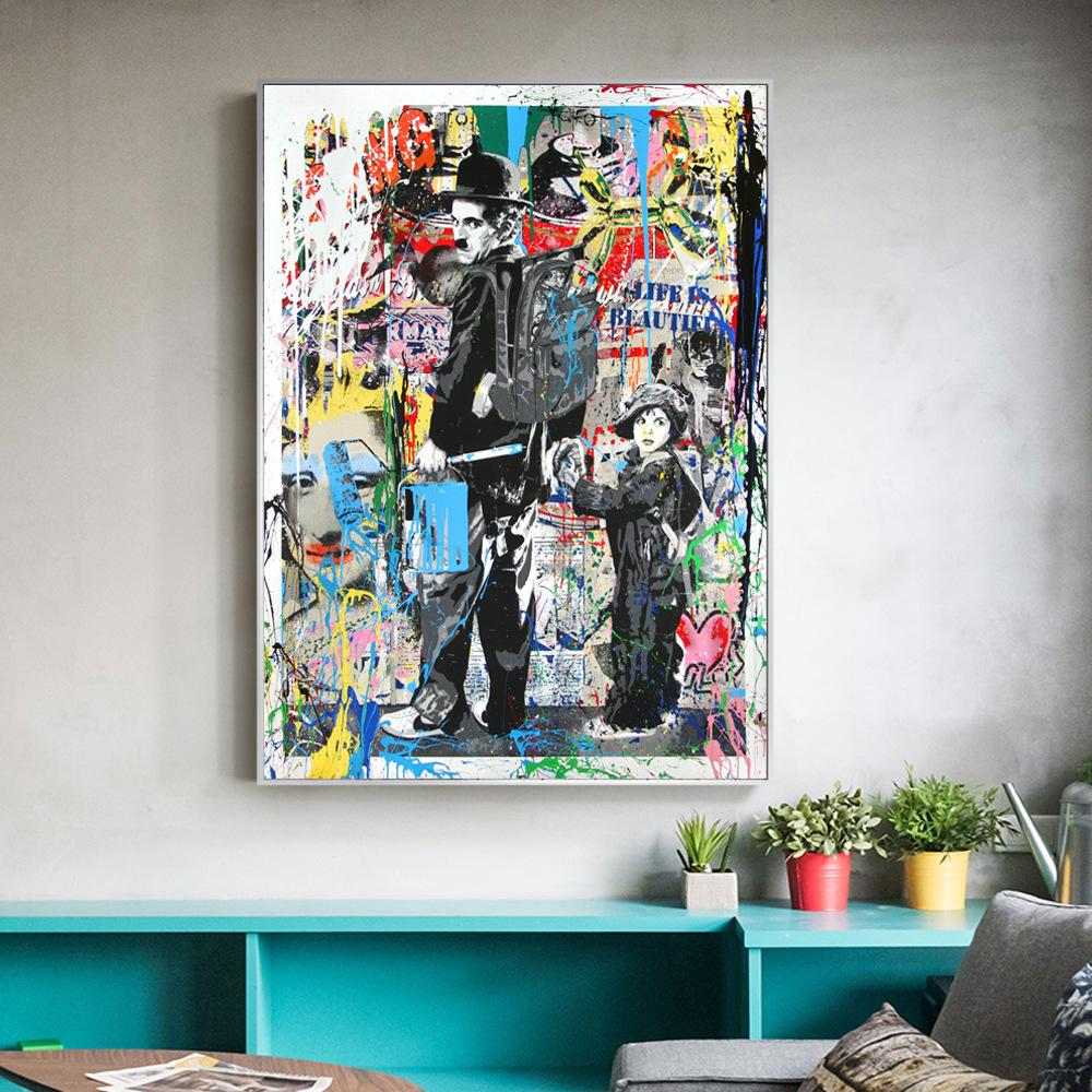 Banksy Graffiti Paintings Pop Art For Kids Room Home Decor Handpainted &HD Print Oil Painting On Canvas Wall Art Canvas Pictures 200120