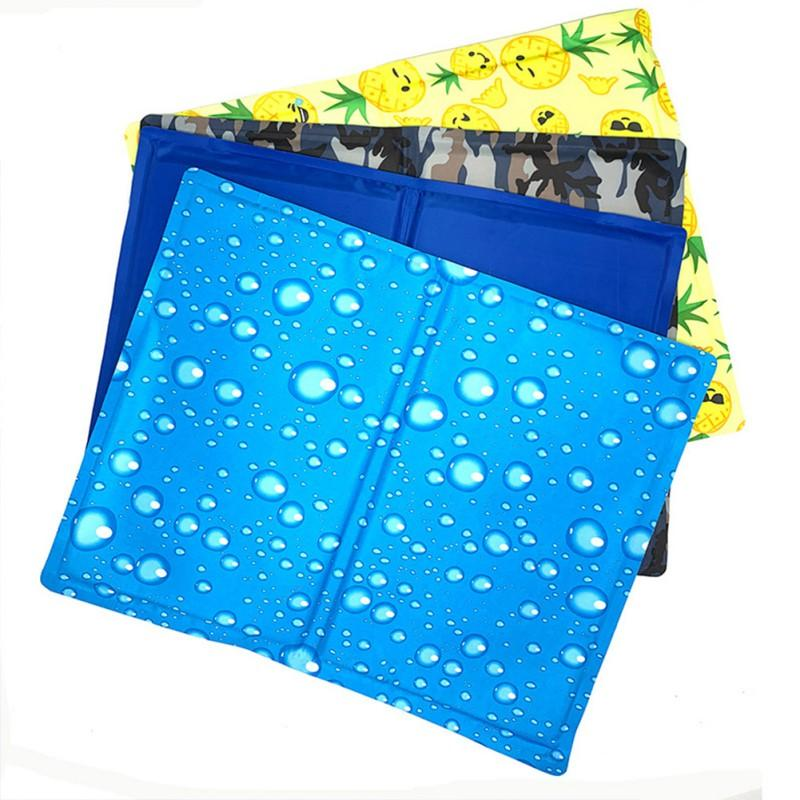 Pet Dogs Cats Summer Cooling Sleeping Mats Pads Beds Puppy Blankets Kennel Pad Cushion Keeping Cool Down Supplies Floor Cooler