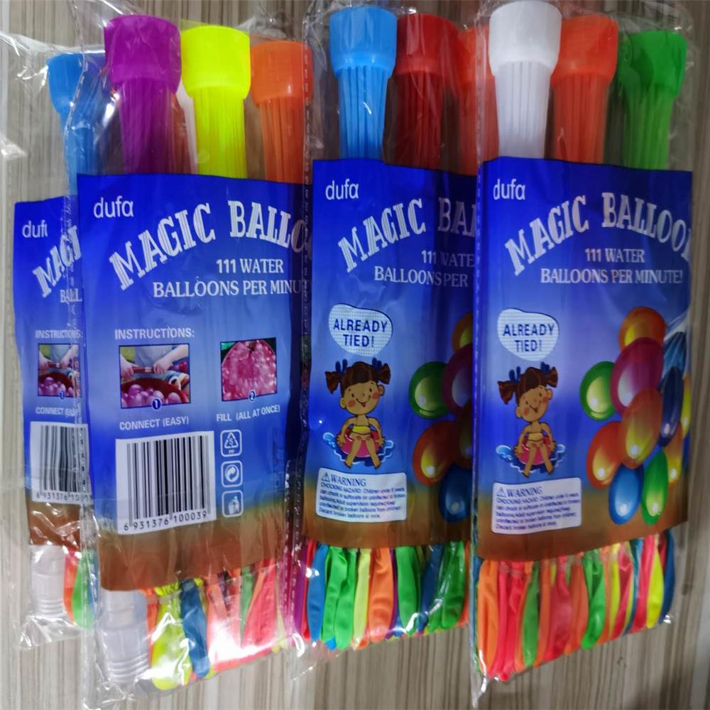 Su Balonlar 1PCS = 111balloon Renkli Su Balonlar Şaşırtıcı Magic bomba Oyuncak Balon Demet Su Balon Oyunları oyuncaklar Q33 dolum doldurdu