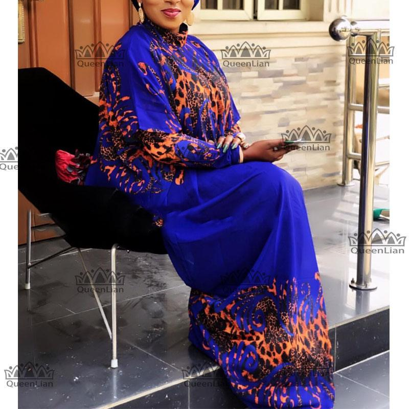 2019 New African Loose Design Chiffon Long sleeve Dashiki Dress For Lady XFCX#