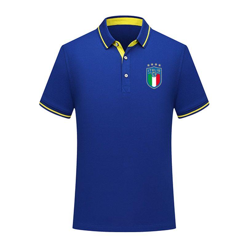 Designer Italy national team summer cotton football polo shirt short sleeve lapel polo soccer men polo shirt training jersey hoodie Men's P