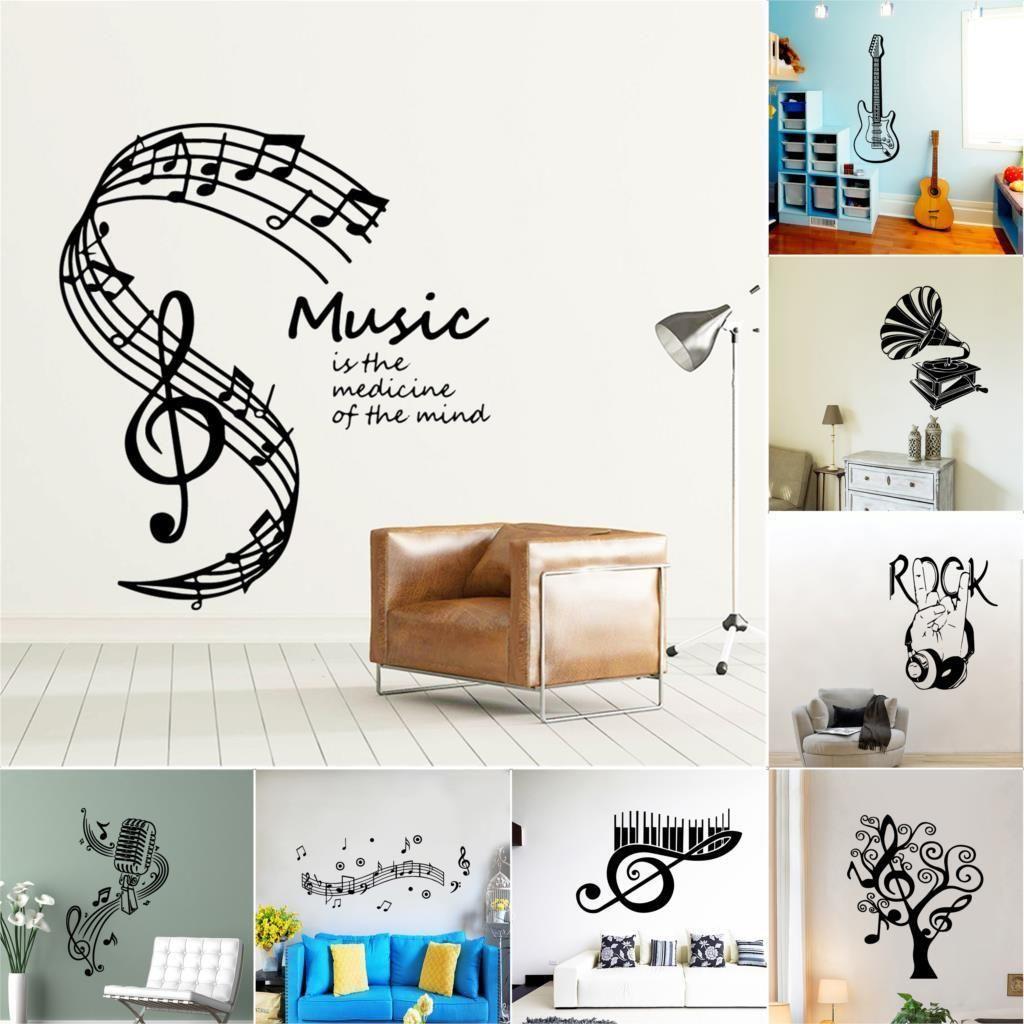 Rock band Art Sticker Mural Musique Decal Pour Chambre Salon Décoration Vinyle Autocollants Muraux sticker mural Décor À La Maison Papier Peint
