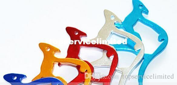 Abridor de lata do abridor de garrafa do metal da forma do canguru com o presente relativo à promoção do chaveiro do Keyring