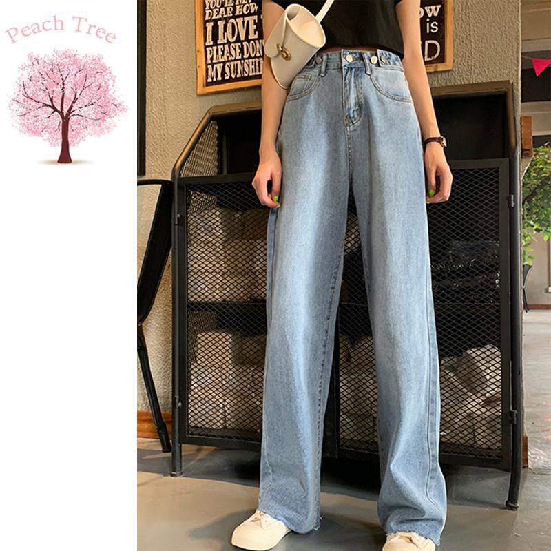 Классический Fit Bootcut JeanJeans Женщины отдыха Сыпучие высокой талией ретро Wide Leg женщин Жан