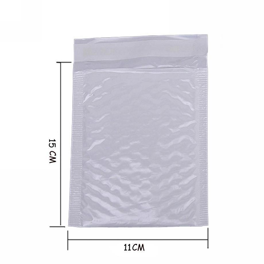 10 배 귀엽다 방수 화이트 펄 필름 Bubbel 11 * 15 봉투 Bulle 가방 우편물 패딩 배송 봉투 거품 우편 가방