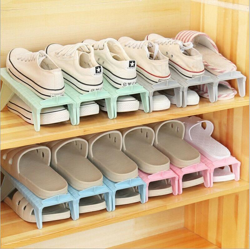 Домашнее хранение или организация Творческий пластиковый стеллаж для обуви организатор компактное хранение регулируемый прочный