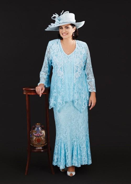 Mãe de Blue Vestidos de casamento Plus Size Formal Wear vestidos de noiva completa Lace V Neck Mães Mães Noivo Vestido