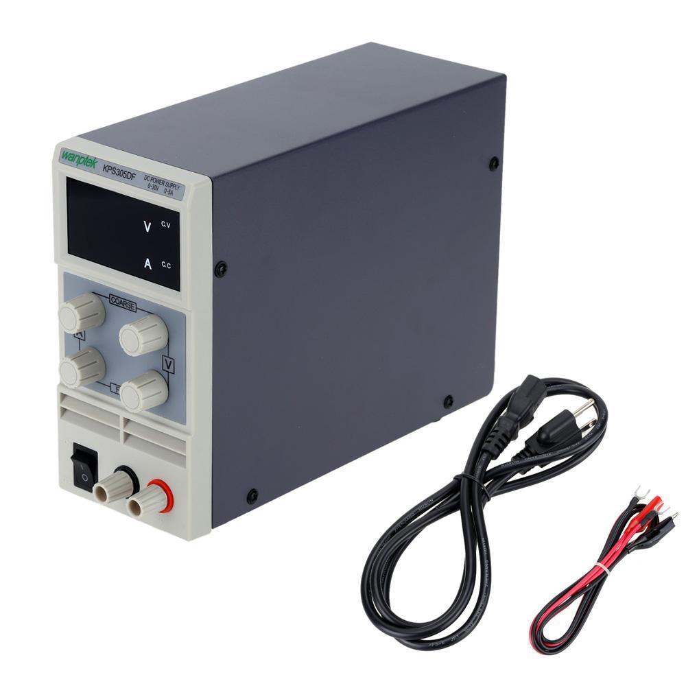 Freeshipping Mini ayarlanabilir DC güç kaynağı 110 V / 220 V regüle çıkış voltajı 0 ~ 30 V çıkış akımı 0 ~ 5A regülatörü AB / ABD plug