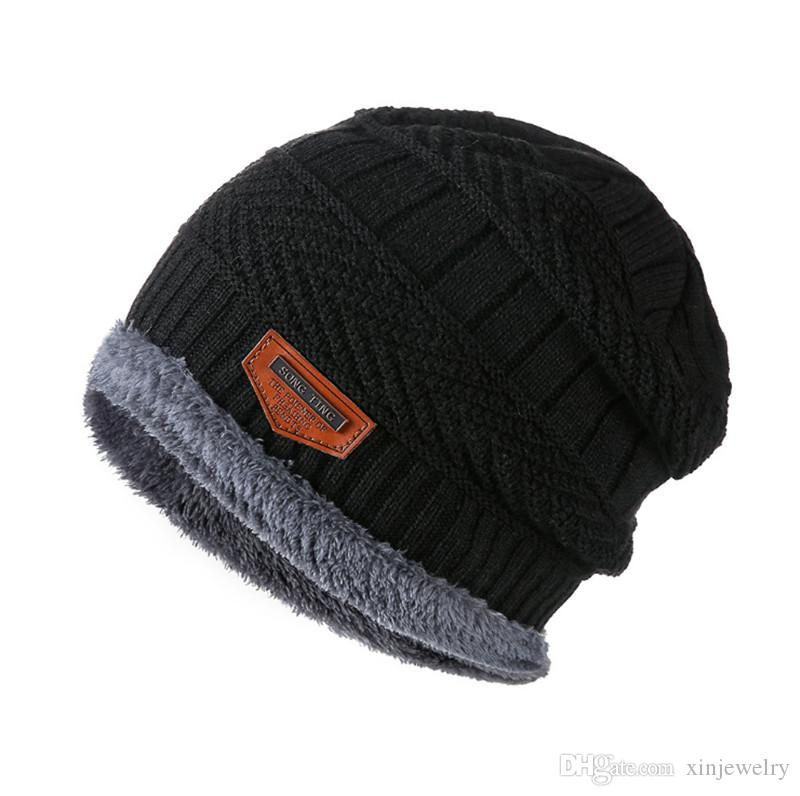 Adults Kids Thick Warm Winter Hat Soft Stretch Cable Beanie Skull Caps Designer brand outdoor fleece cap