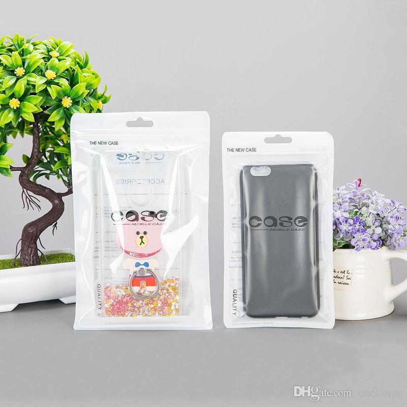 حالة البلاستيك سستة حقيبة الهاتف الخليوي الملحقات غطاء الهاتف المحمول حزمة حزمة حقيبة للحصول على 8 7 6 زائد 6S