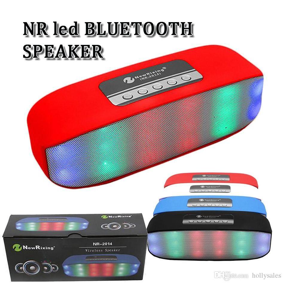 ريكسينغ اللاسلكية الأزرق الأسنان المتكلم NR LED اللمعان بلواز IPX5 الموسيقى مكبر الصوت العشاء باس Handfree مع الهاتف الصغير للهاتف المحمول الذكي