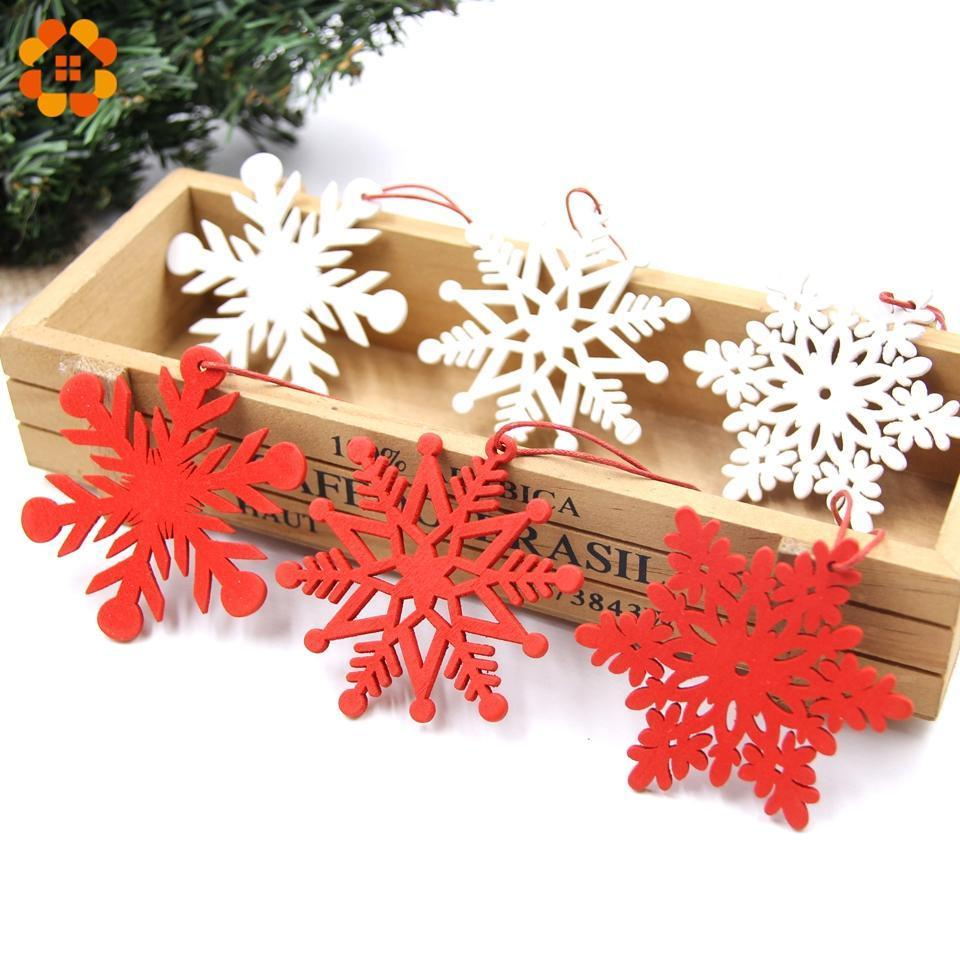 Blulu 60 Pieces Christmas Wooden Ornaments Round Wood Slices Wood Snowflake Angel Shape Slices with 60 Pieces Cords for New Year Christmas Tree Pendant Ornaments Style 1
