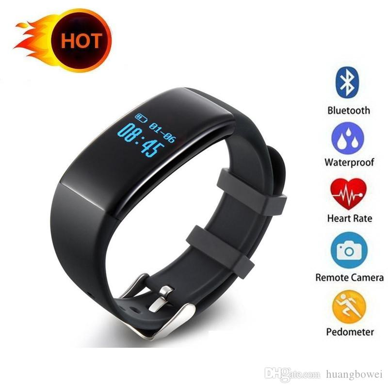 D21 Heart Rate Monitor Smart Bracelet Waterproof Alarm Clock Step Counter Call Message Reminder Smartband for IOS&Android Phone 10pcs DHL