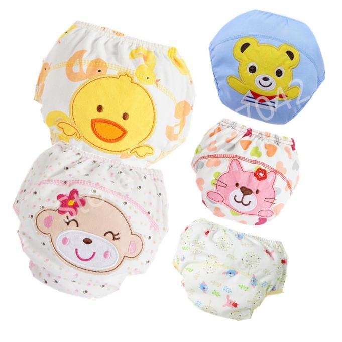 Calças de algodão paro bebê Calcinhas Baby Fraldas Reutilizáveis fralda de pano fraldas laváveis Crianças Underwear Crianças mudança de fraldas