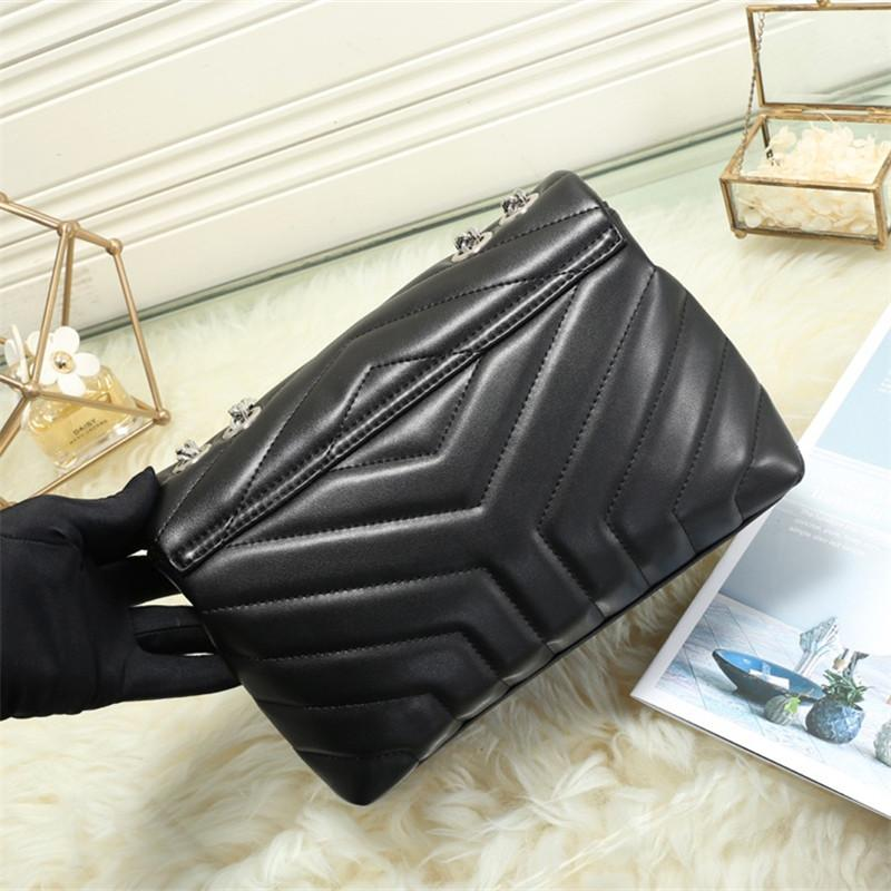 Mode Leder Schulterfarben Frauen Tasche Tasche Handtaschen Hohe Qualität 3 Frauen Kette Großhandel 25x18x10cm Ioaf
