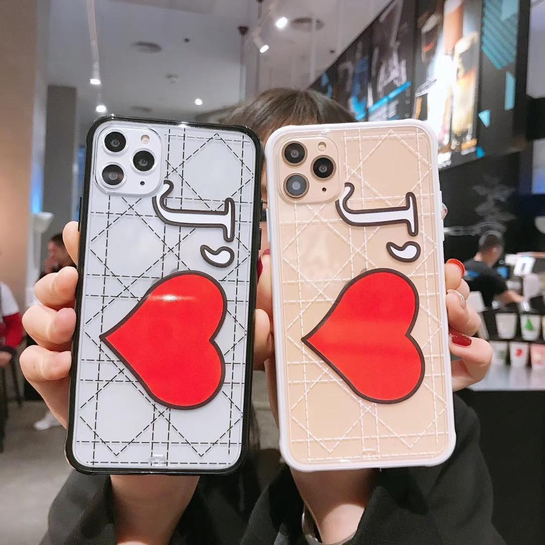 2020 nuevo teléfono suave caso del iPhone para el corazón 11 Pro Max X XR X J TPU para el iphone 6 7 8 más