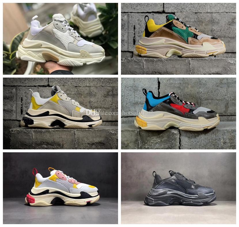 TRIPLE S Designer Shoes Men Shoe Nuovo allenatore Designer di lusso Sneakers Donne Bottom 5 Combinazione Sole Sneaker