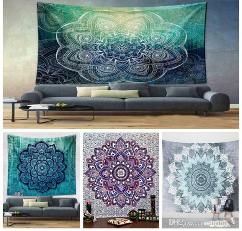 150 * 130cm New Tapisseries Bohême Mandala Plage Tapestry Hippie Tapis de yoga Serviette Elephant Accueil Elephant Tapisserie Tenture décorative Tissu