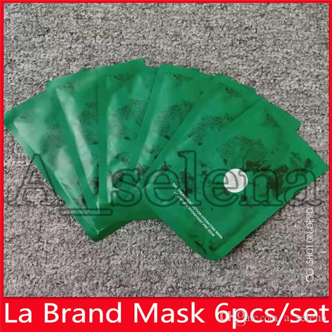 드롭 배송 뜨거운 유명한 LA 브랜드 얼굴 수리 마스크 치료 로션 수동 마스크 6 조각 얼굴 마스크 키트