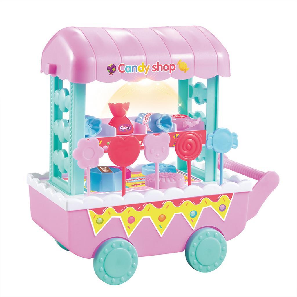 Legumes crianças Fruit Ice Cream doces Food Cart Toy Música Pretend Play Set Brinquedos Diy Crianças Role Play Brinquedos Toy engraçado Educação