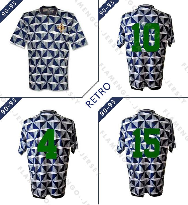 1990-93 Top classic Northern Ireland away shirt Retro soccer Jerseys Home 90 91 92 93 retro classic Football shirts