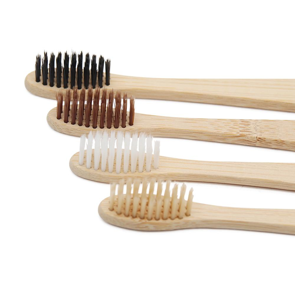 8 Pz Adulto Ambientale Spazzolino in legno Novità Spazzolino in bambù Capitellum in fibra di bambù Manico in legno