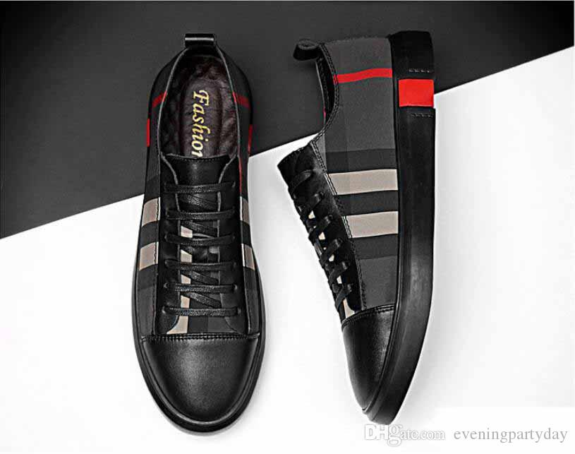 newSpring 이탈리아 새로운 패션 높은 상위 남자 신발 캐주얼 스 니 커 즈 신발 럭셔리 디자이너 플랫 워킹 구두 드레스 파티 웨딩 구두 38-46