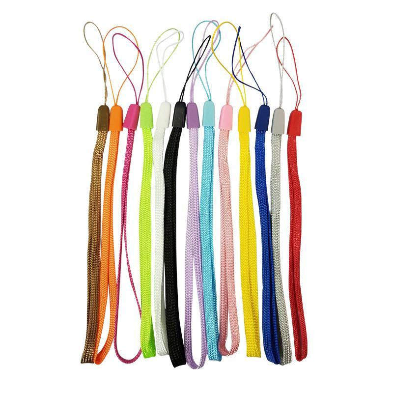 Nylon cuerda de seguridad Teléfono Celular caramelo colorea Hang correas para Iphone Samsung MP4 / 3 llaveros Deportes Estilos