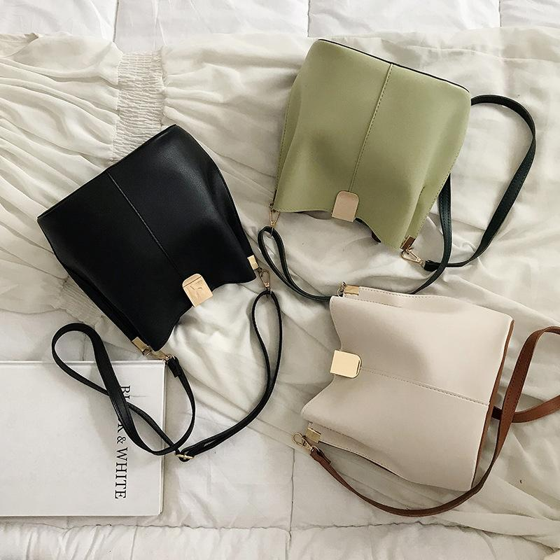 Free2019 Style Western Feel Bag Mujer Summer Tide Solo hombro Messenger Texture Bucket Package