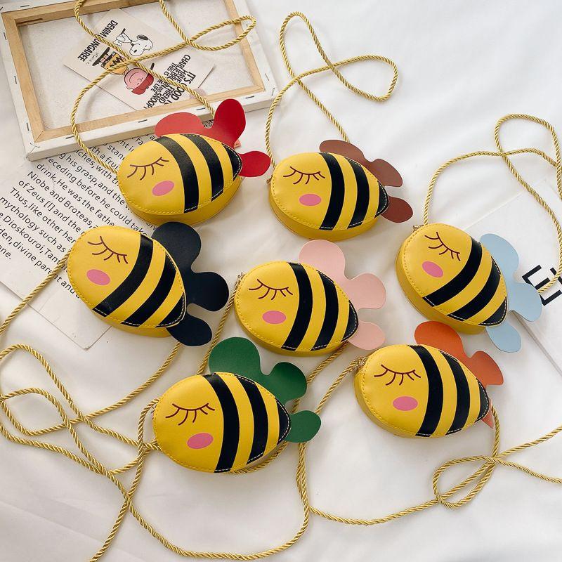 Messenger Bag bambini di modo Borse coreano 2020 nuovo cartone animato ape borsa a tracolla bambini dell'unità di elaborazione delle ragazze dei Bee borsa del cambiamento S072
